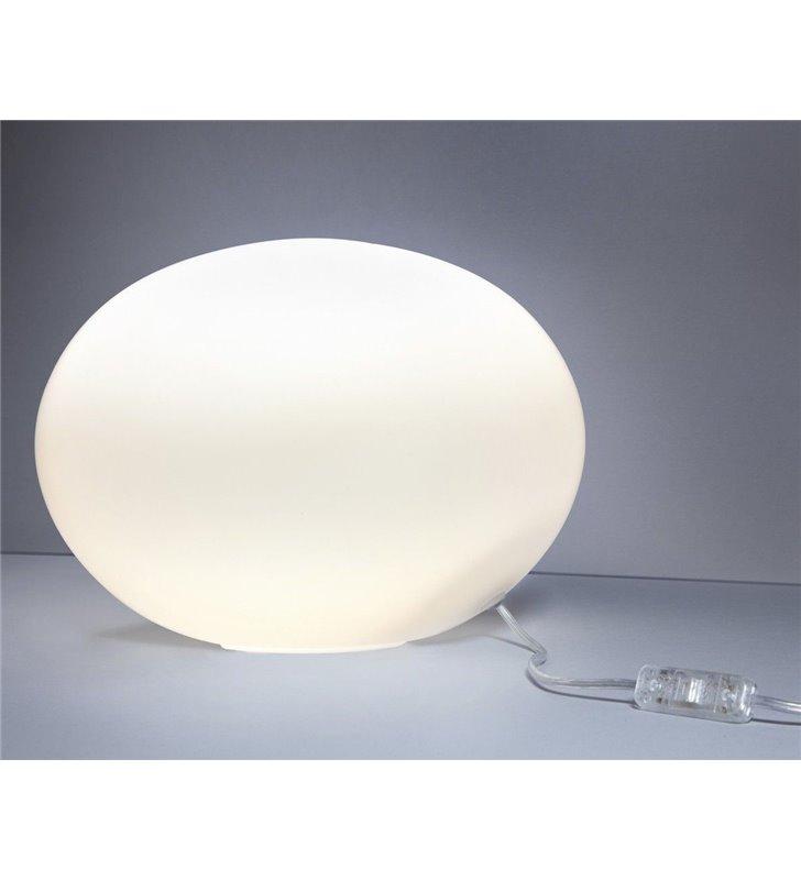 Lampa stołowa Nuage 300 szklana biała kula do salonu sypialni na komodę stolik nocny