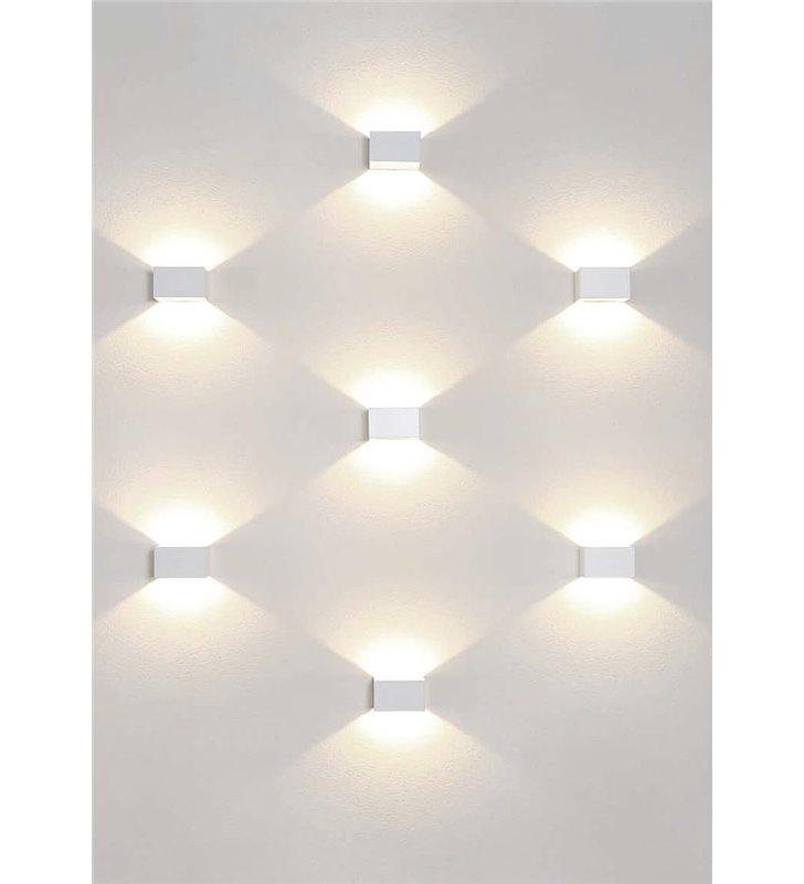 Kinkiet Lia LED biały nowoczesny świeci w górę i w dół