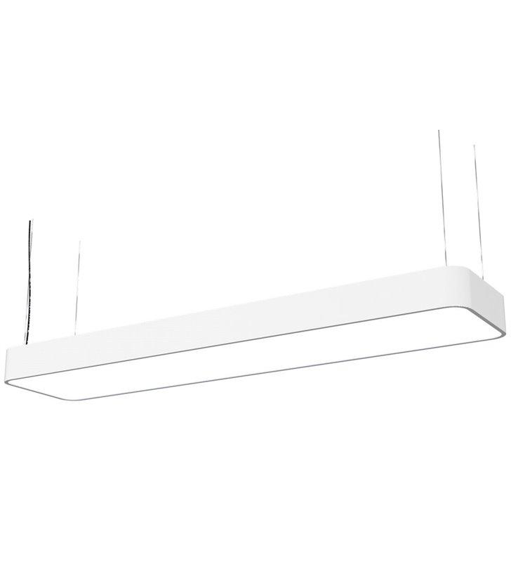 Lampa wisząca Soft White LED prostokątna biała do kuchni biura jadalni salonu nad stół wyspę kuchenną