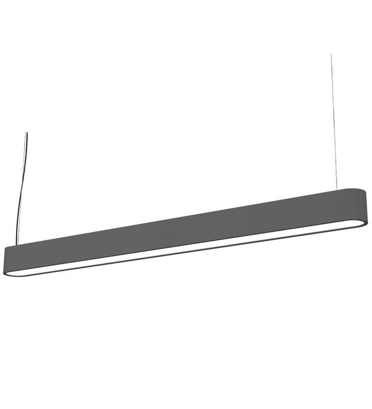 Lampa wisząca Soft Graphite 90 grafitowa podłużna do biura kuchni jadalni salonu nad stół wyspę kuchenną - DOSTĘPNA OD RĘKI