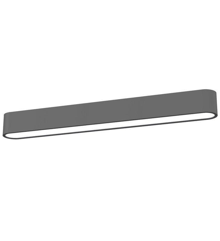 Plafon Soft Graphite LED 60 grafitowy wąski podłużny