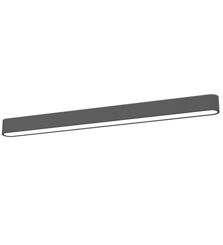 Plafon Soft Graphite LED 90 grafitowy wąski podłużny