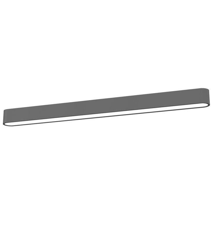 Wąski plafon Soft Graphite LED 120 grafitowy podłużny