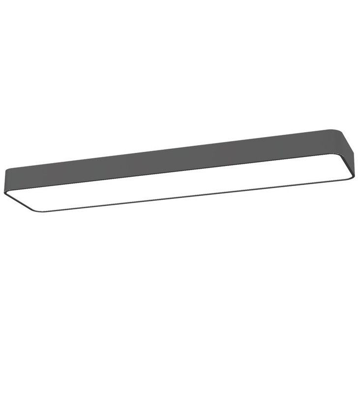 Prostokątny plafon Soft Graphite LED 60x20 grafitowy