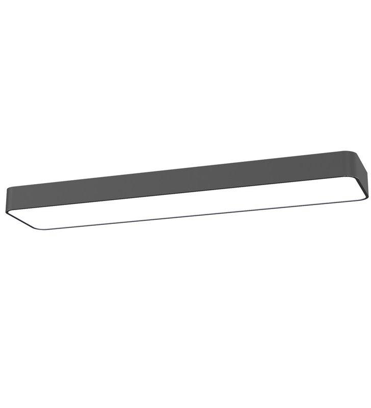 Prostokątny plafon Soft Graphite LED 90x20 grafitowy