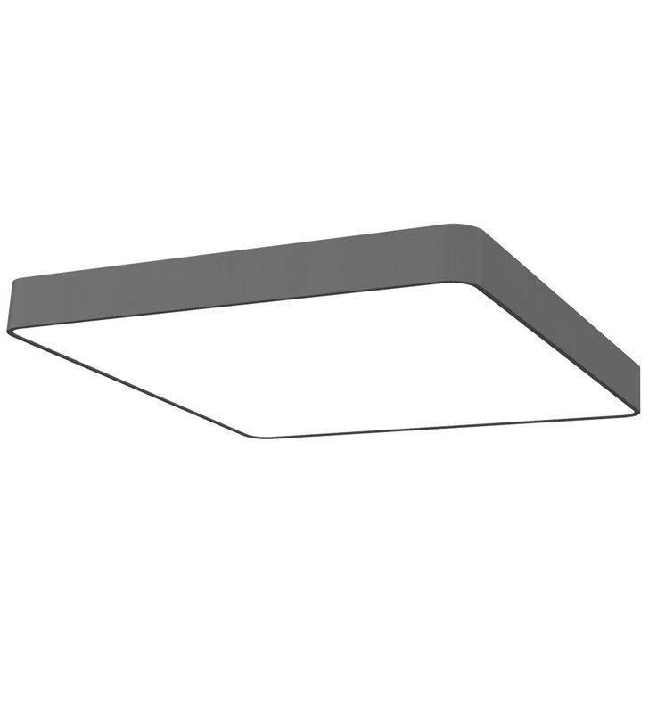 Kwadratowy plafon grafitowy Soft Graphite LED 63x63 - DOSTĘPNY OD RĘKI