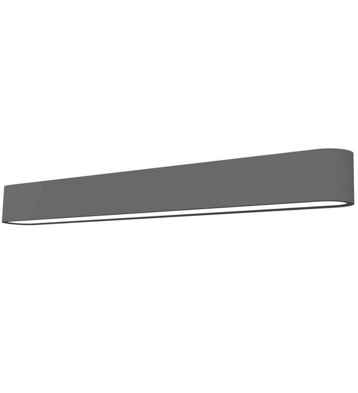Grafitowy podłużny kinkiet Soft Graphite LED 60