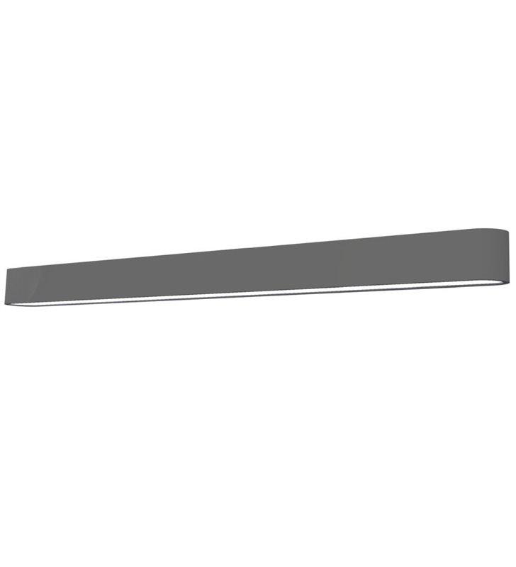 Grafitowy podłużny kinkiet Soft Graphite LED 90 świeci w górę i w dół