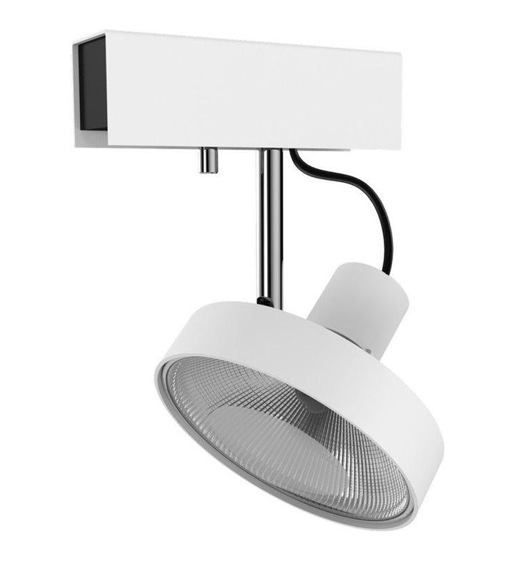 Lampa sufitowa spot 1 punktowy Cross White biała