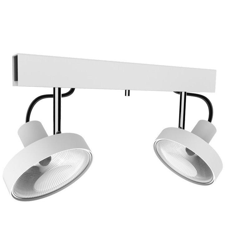 Spot 2 punktowy biała lampa sufitowa Cross White