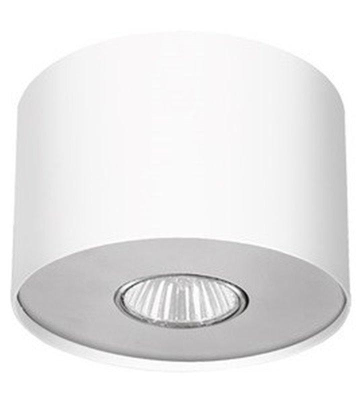 Point White lampa sufitowa downlight biała z dodatkową grafitową nakładką - OD RĘKI