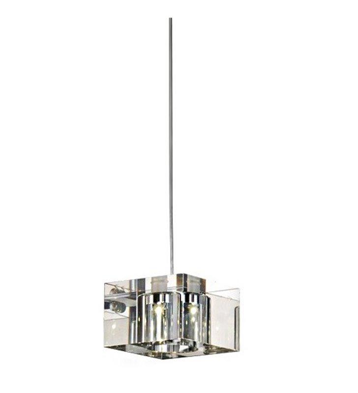 Lampa wisząca Box szklana kostka pojedyncza