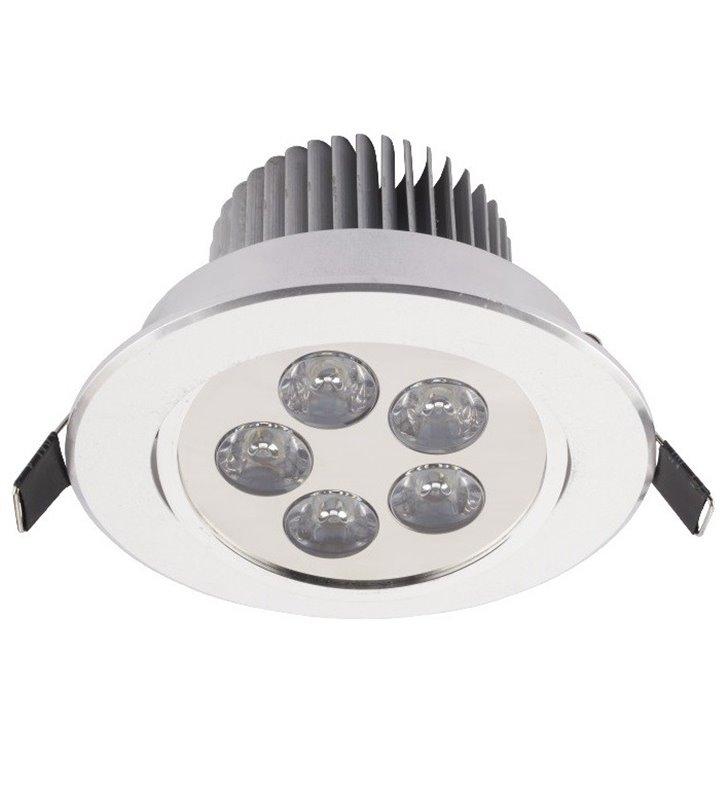 Oprawa punktowa Downlight LED 5W chrom okrągła