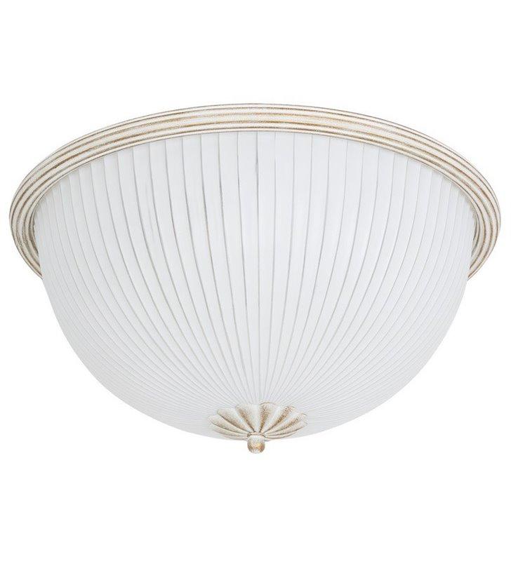 Plafon Baron White 380 biały klasyczny do salonu sypialni przedpokoju