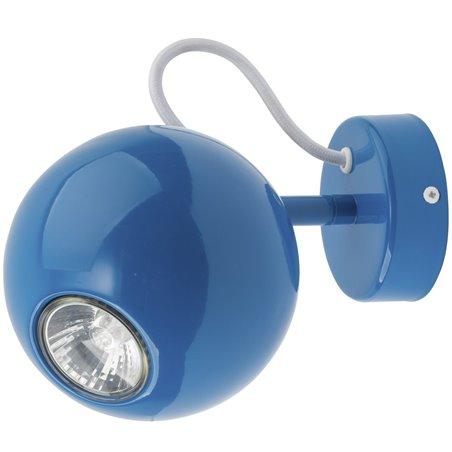 Kinkiet Malwi niebieski klosz kula do pokoju dziecka salonu sypialni przedpokoju - DOSTĘPNY OD RĘKI