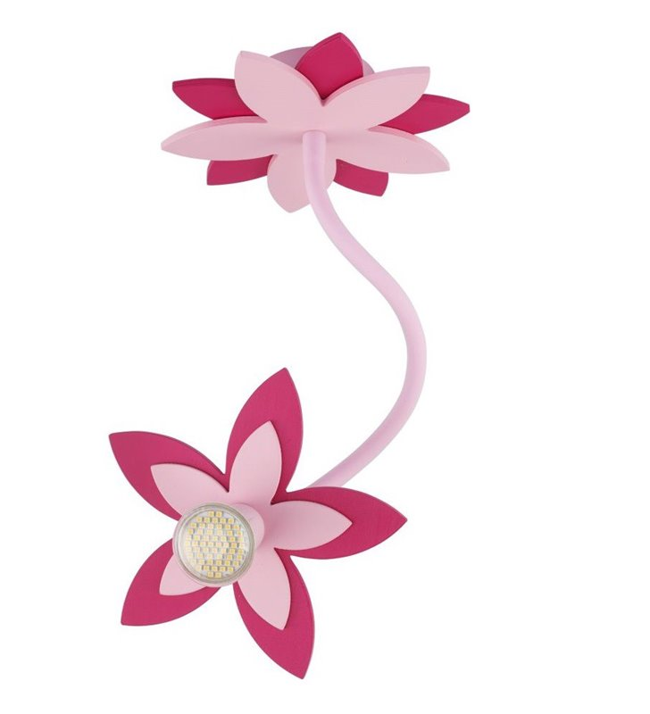 Lampa sufitowa kinkiet różowy kwiatek Flowers Pink do pokoju dziewczynki