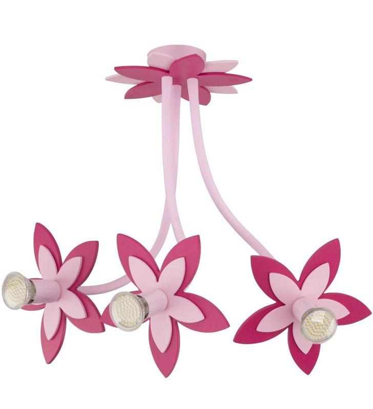 Lampa sufitowa żyrandol Flowers Pink różowe kwiatki do pokoju dziewczynki