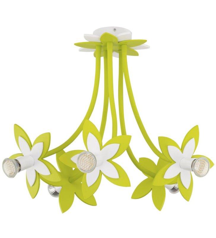 Flowers Green lampa sufitowa zielona kwiatki do pokoju dziewczynki