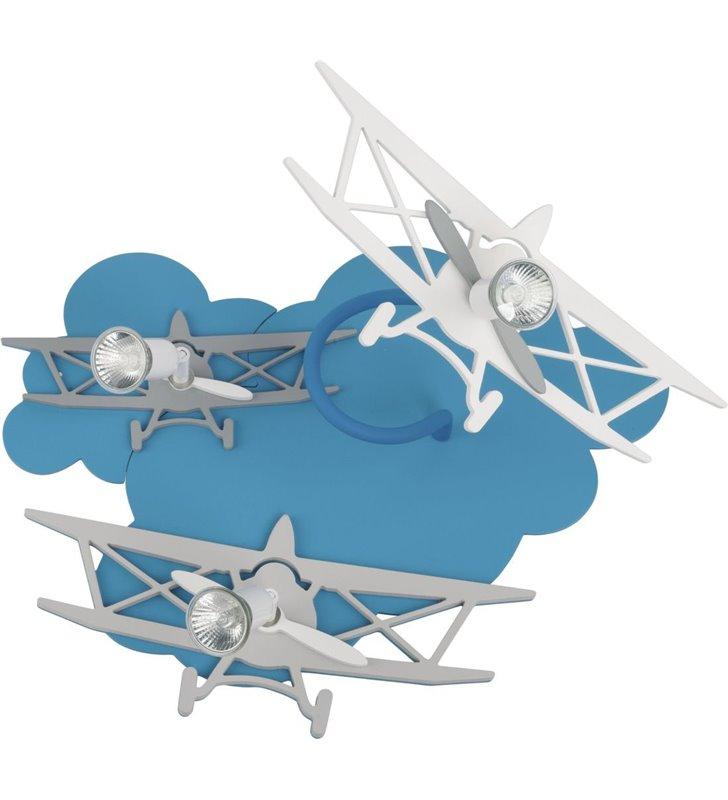 Plane samolot lampa sufitowo ścienna z samolotami do pokoju dziecka
