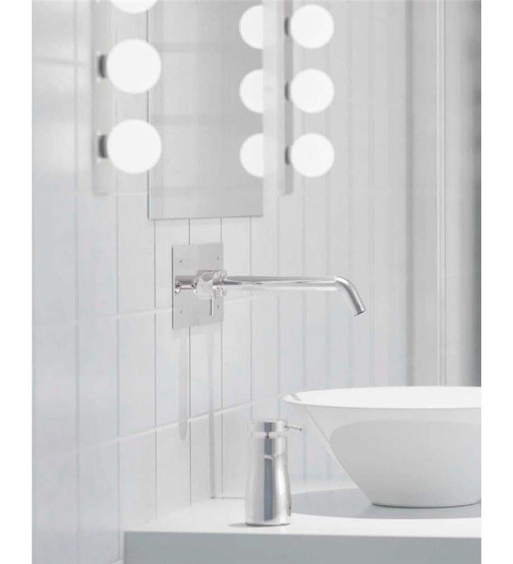Lampa Brazos Do łazienki 3 Szklane Kule Oświetlenie Lustra Kinkiet łazienkowy Ip44