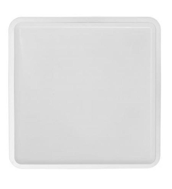Kwadratowy plafon do łazienki Tahoe biały mat 1xE27 IP65