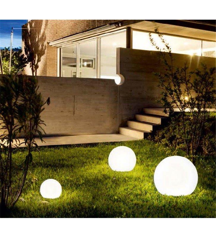 Lampa ogrodowa biała kula Cumulus 300