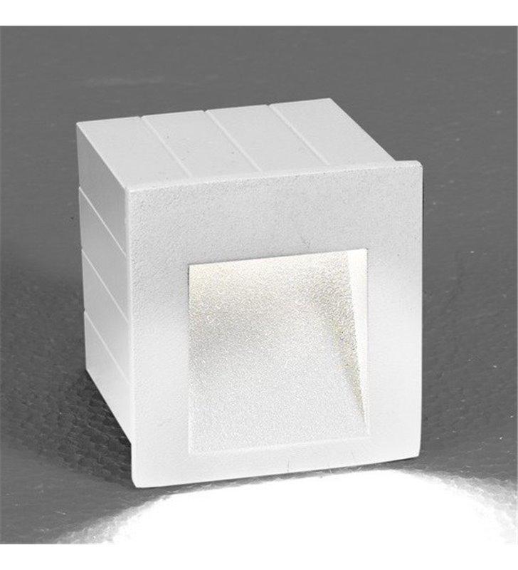 Lampa ogrodowa ścienna do wbudowania Step LED White biała nowoczesna