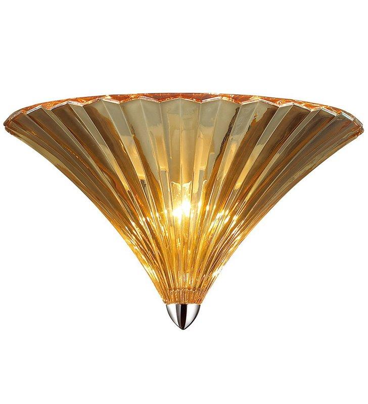 Kinkiet Blos szklany bursztynowy z chromowanym wykończeniem