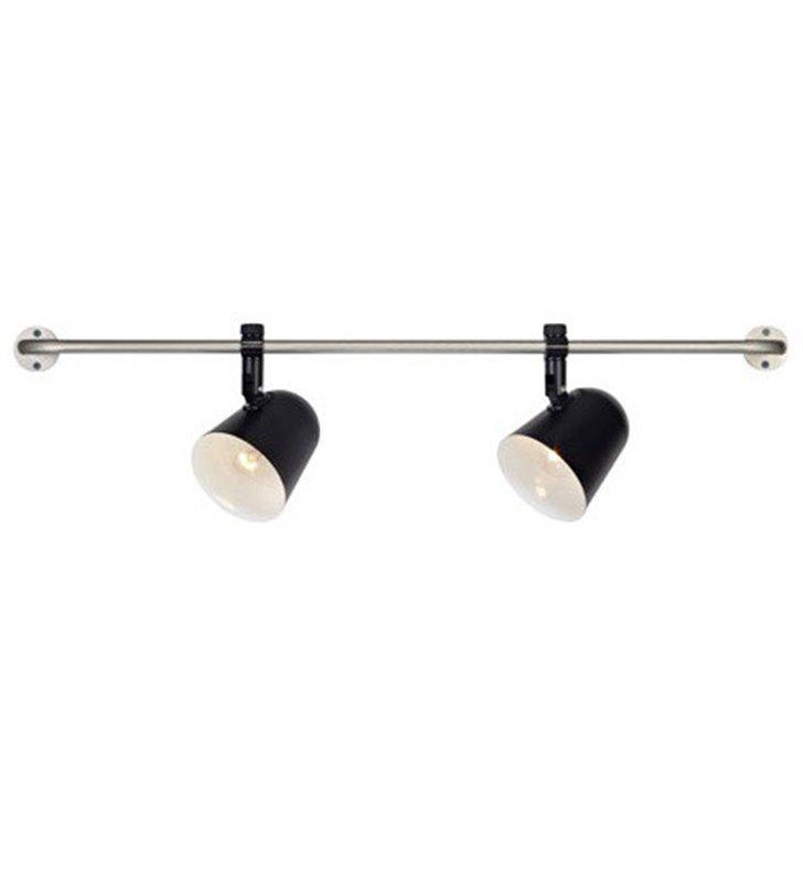 Kinkiet Conrad czarny duży podwójny montaż pionowy lub poziomy do sypialni salonu kuchni przedpokoju OD RĘKI