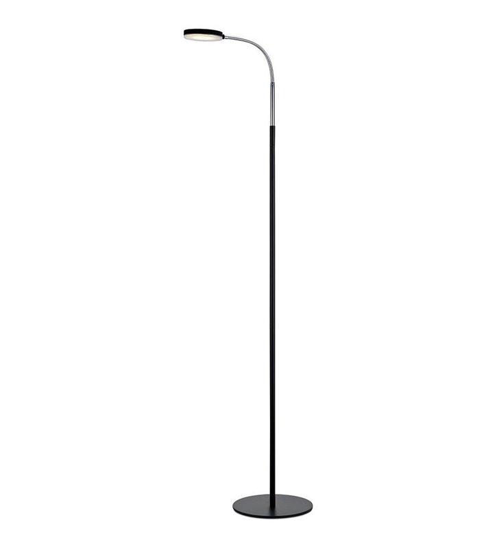 Czarna nowoczesna lampa podłogowa Flex LED z giętkim ramieniem do biura salonu sypialni