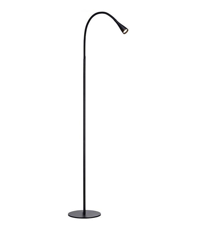 Snake czarna nowoczesna minimalistyczna lampa podłogowa LED do salonu biura sypialni