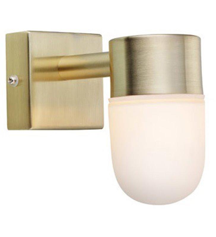 Ścienna lampa łazienkowa Menton IP44 mosiądz szczotkowany