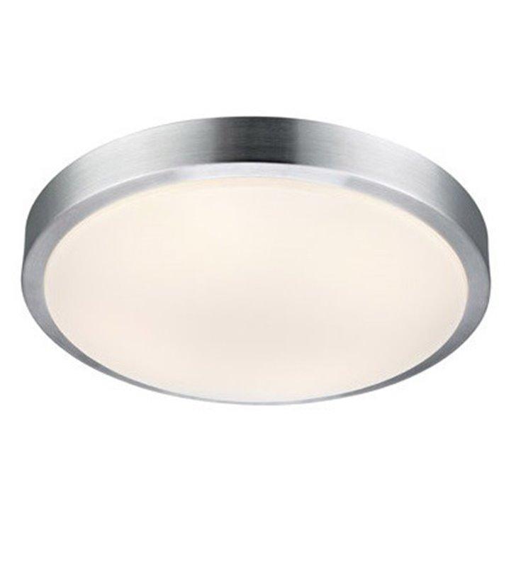 Plafon łazienkowy Moon 390 LED kolor aluminium okrągły