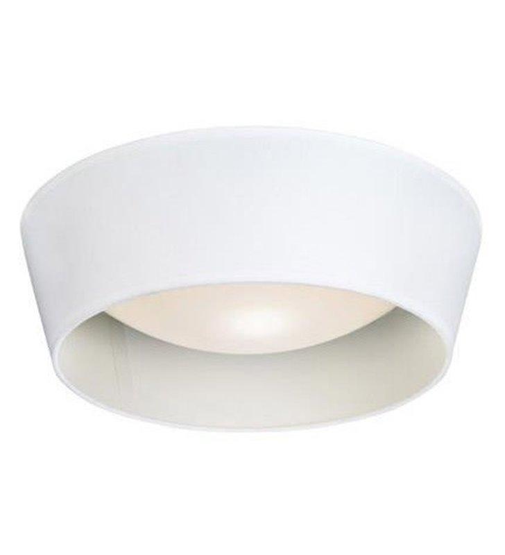 Plafon Vito 365 biały okrągły materiałowy abażur