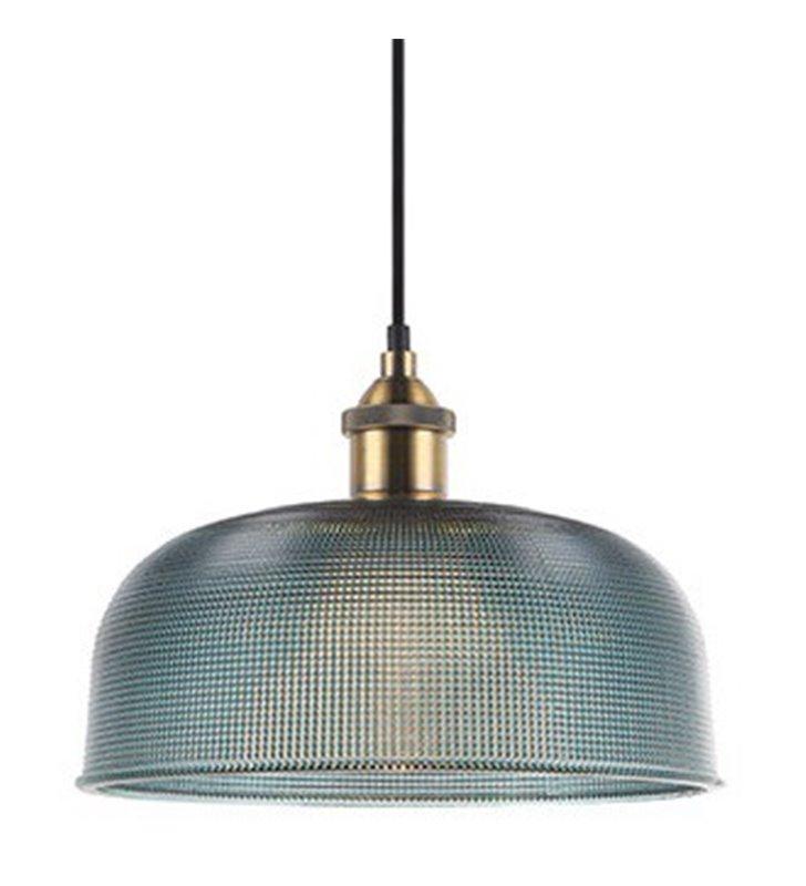 Lampa wisząca Davide niebieska szklana