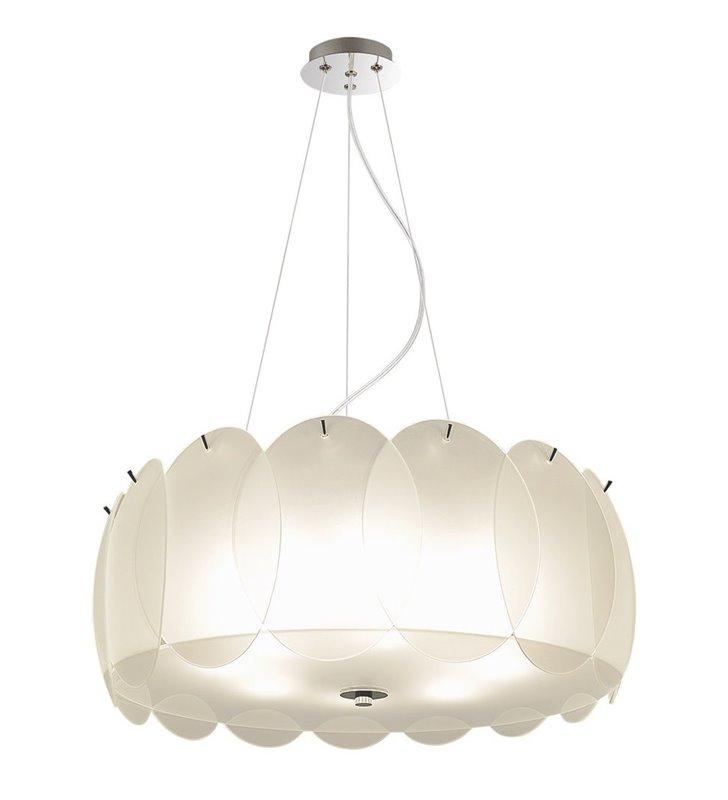 Dekoracyjna biała lampa wisząca Esseo do salonu kuchni sypialni jadalni nad stół