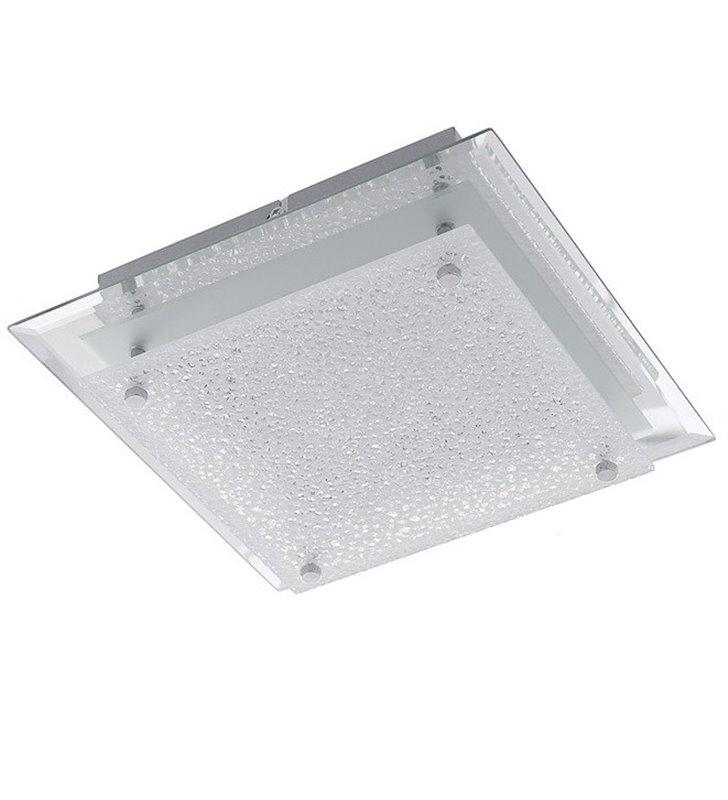 Plafon Foster 260 kwadratowy szklany nowoczesny
