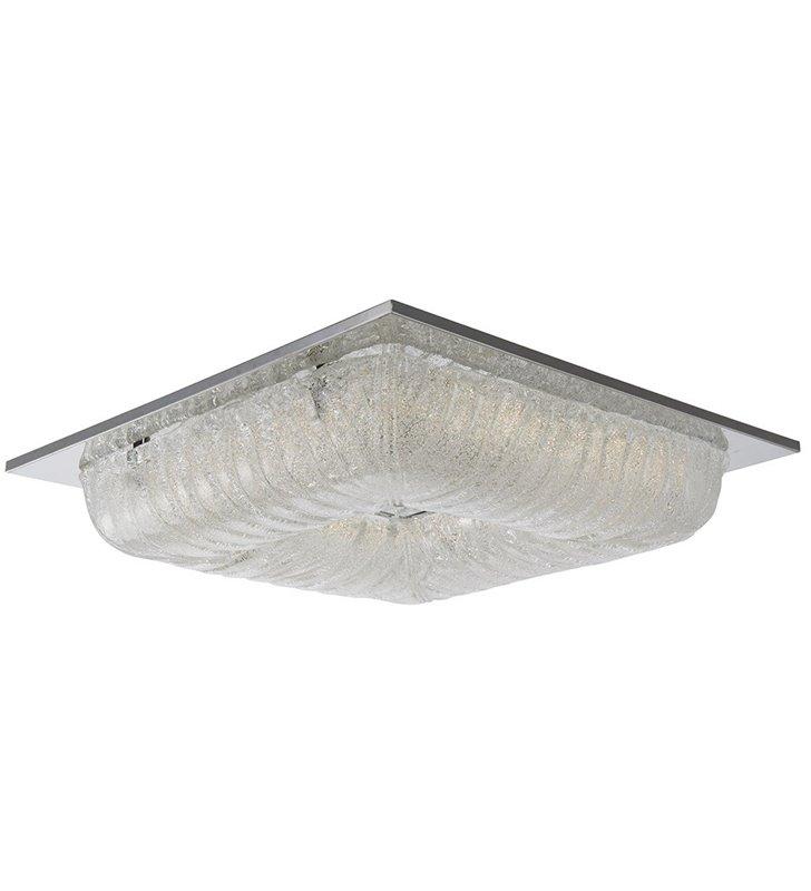 Plafon Mercer 520 stylowy kwadratowy szklany LED