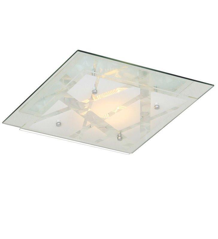 Plafon Mertu 240 kwadratowy szklany