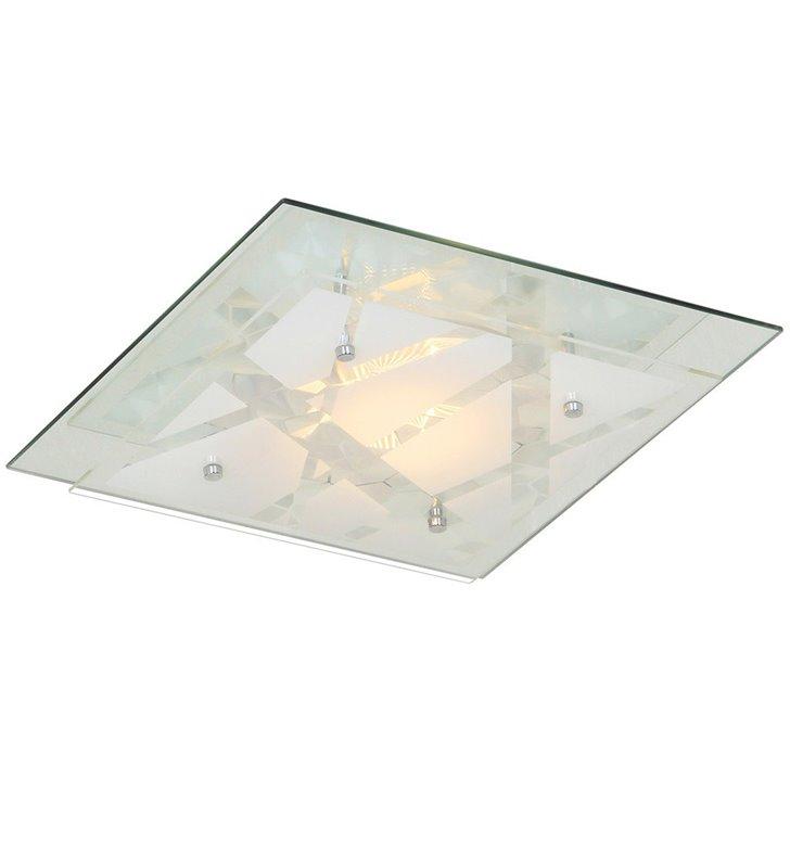 Plafon Mertu 335 szklany kwadratowy LED