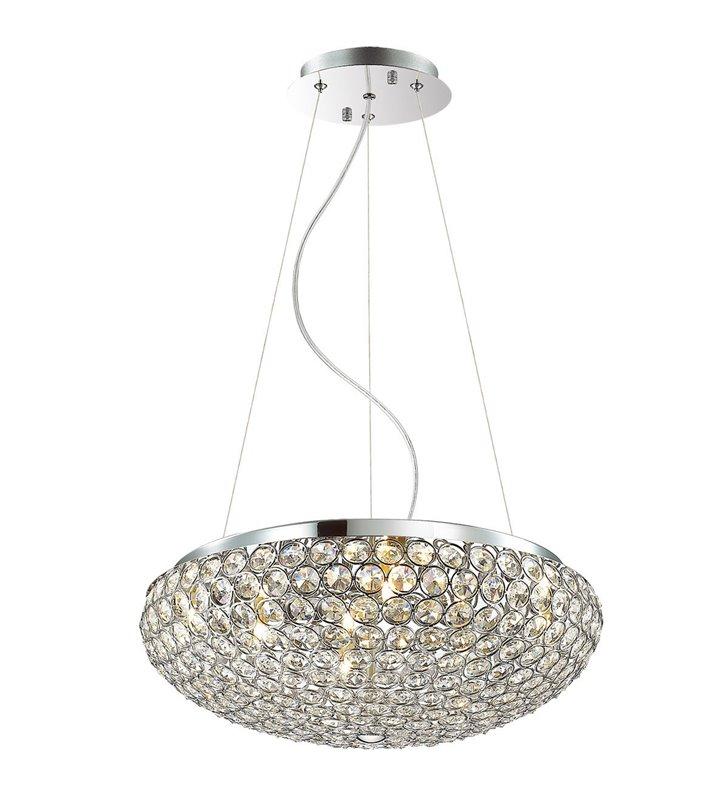 Lampa wisząca Santo kryształowa okrągła do salonu sypialni nad stół do jadalni kuchni