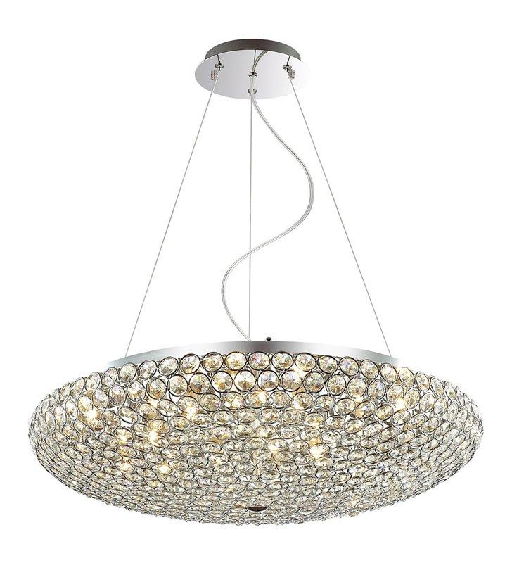 Duża kryształowa lampa wisząca Santo okrągła do salonu sypialni nad stół do jadalni kuchni