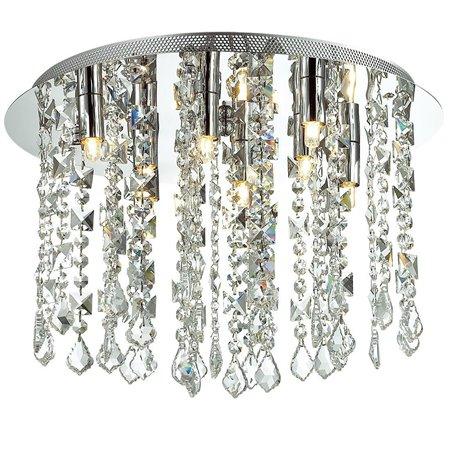 Shiraz 400 okrągły plafon ze zwisającymi kryształkami