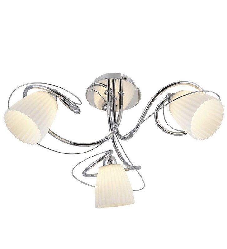 Lampa sufitowa krótki żyrandol Tipene 3 punktowy z zawijasami