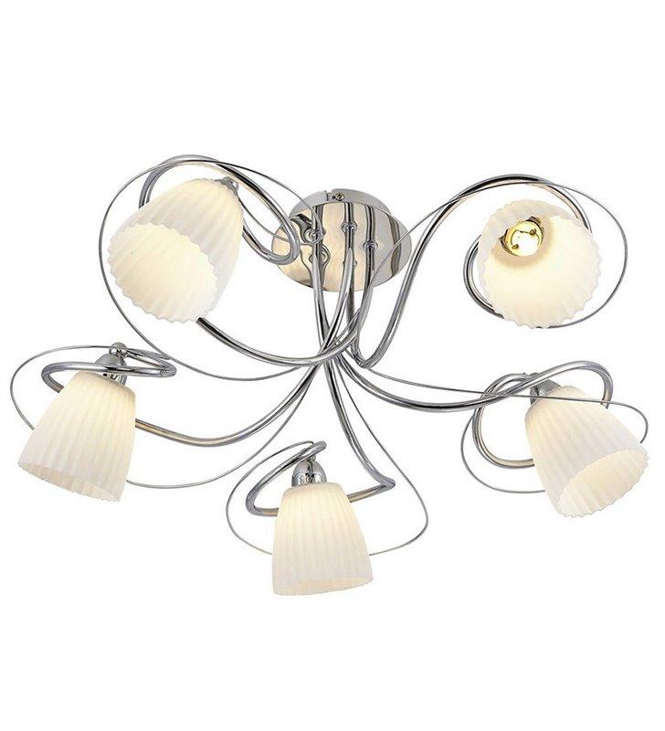 Lampa sufitowa krótki żyrandol Tipene 5 płomienny z zawijasami