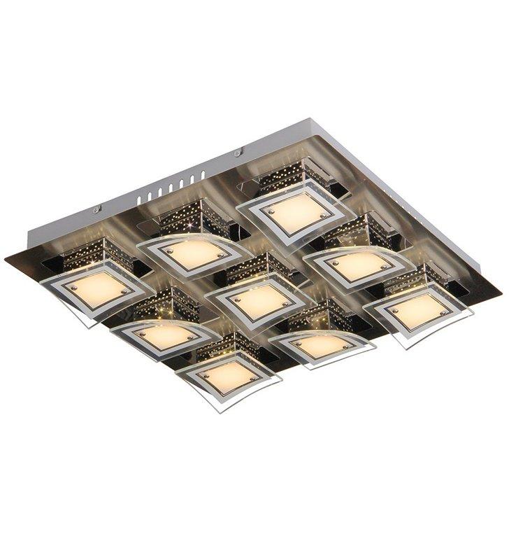 Winston 440 nowoczesny kwadratowy plafon LED 9 punktowy
