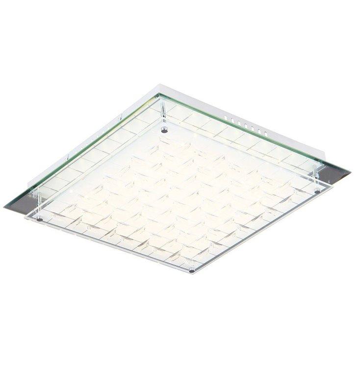 Zeltum 340 nowoczesny kwadratowy plafon LED klosz zdobiony kryształami
