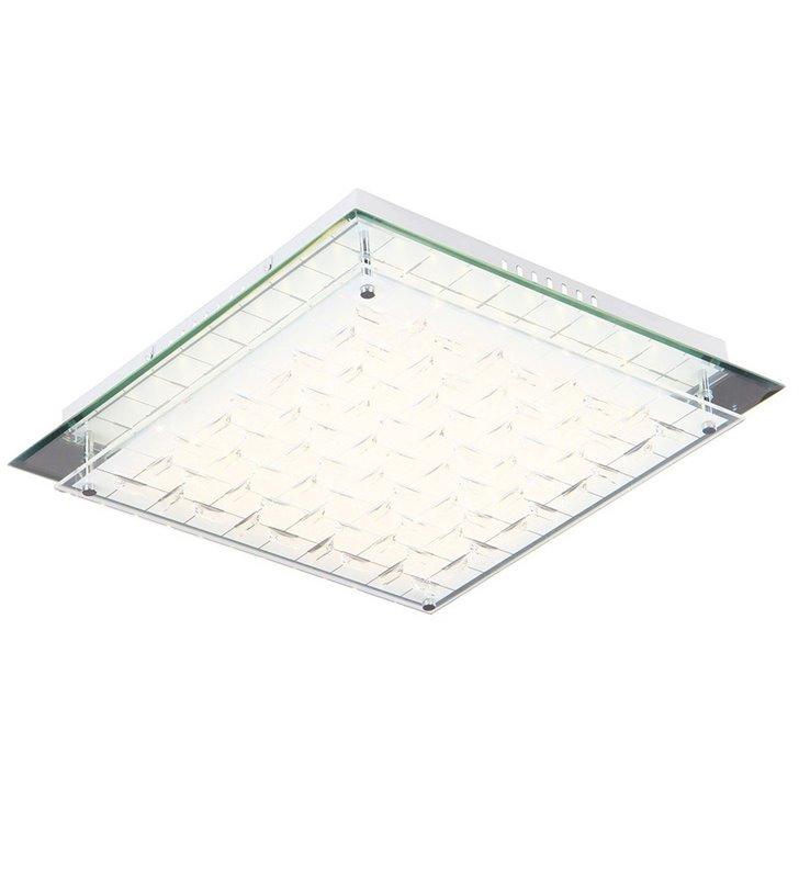 Zeltum 430 LED nowoczesny kwadratowy plafon klosz zdobiony kryształkami