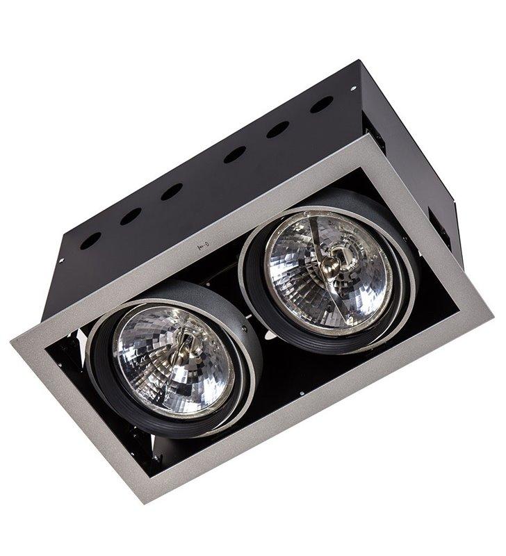 Lampa sufitowa podwójna do wbudowania Arlo downlight srebrna 12V