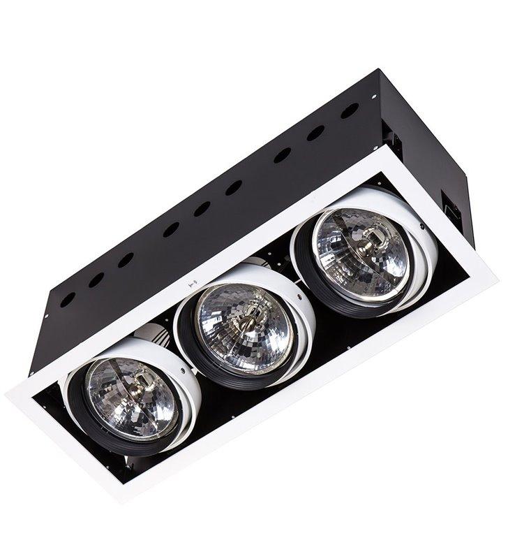 Arlo downlight biała 3 punktowa lampa sufitowa do wbudowania 12V